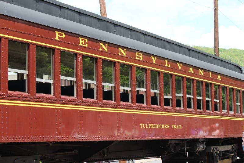 Automobile storica del railraod dalla ferrovia della Pensilvania fotografia stock