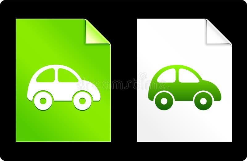 Automobile sull'insieme della carta illustrazione di stock