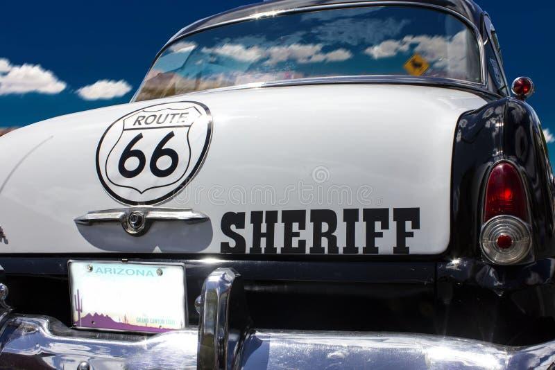 Automobile sulla strada 66 fotografia stock libera da diritti