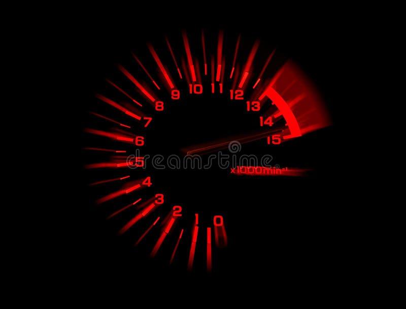 Automobile tachometer speedometer stock photography
