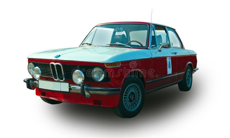 Automobile tedesca d'annata Priorit? bassa bianca fotografie stock