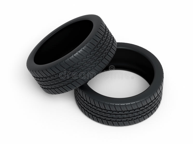 Automobile Tires Stock Photography