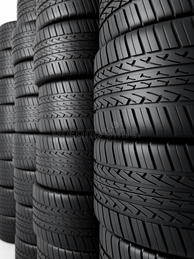 Download Automobile tires stock illustration. Illustration of motorized - 25977026