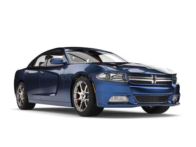 Automobile veloce moderna blu metallica scura fresca royalty illustrazione gratis