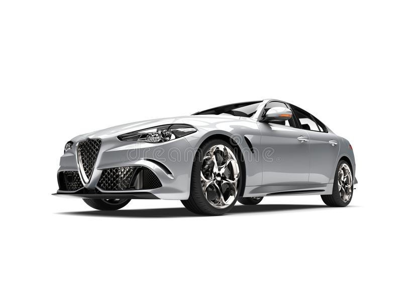 Automobile veloce moderna d'argento eccellente illustrazione vettoriale