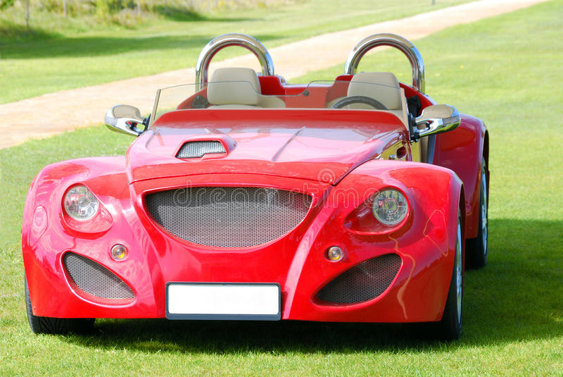 Automobile veloce rossa del cabriolet immagine stock libera da diritti
