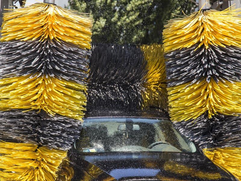 Automobile washing fotografie stock