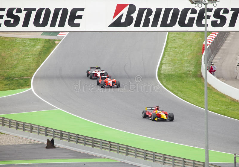 Automobiles of stage are fleet GP2 on start on may