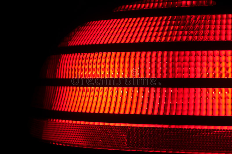 AutomobileTail Light. A red plastic automobile tail light signal royalty free stock images