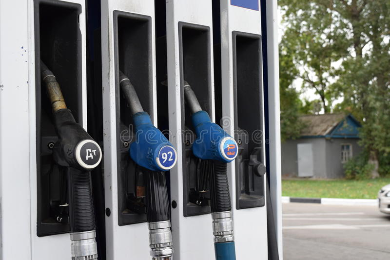 Automobilgas TNK stockbilder