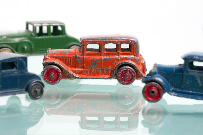 Automobili antiche della berlina del giocattolo fotografie stock libere da diritti
