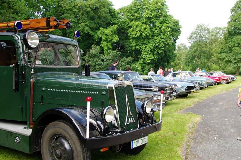 Automobili antiche, ¡ di SaÅ del cavallo un Kolowrata 2013 fotografia stock