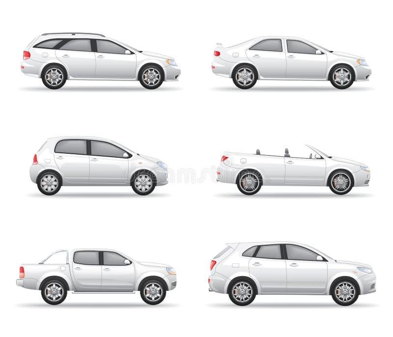Automobili bianche messe fotografia stock libera da diritti