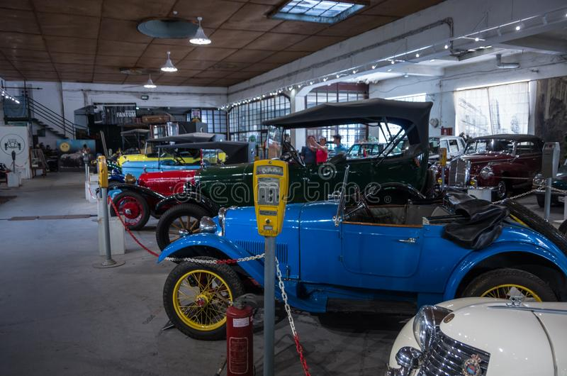 Automobili d'annata dalla raccolta eccezionale di Bratislav Petkov immagine stock