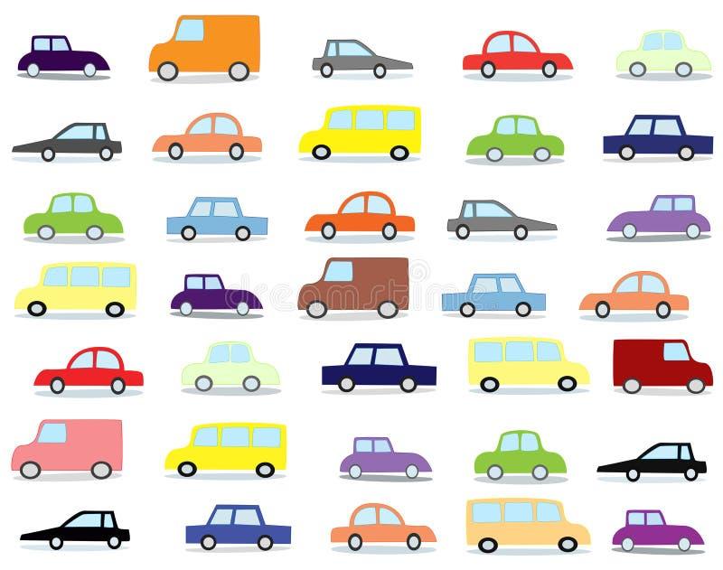 Automobili del fumetto fotografia stock libera da diritti
