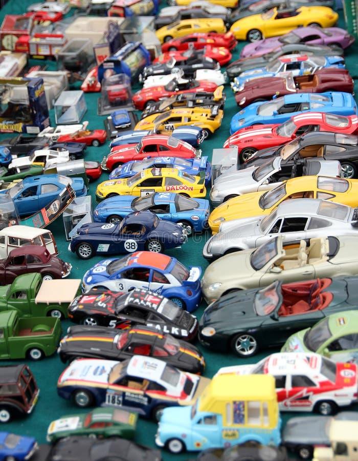 Automobili del giocattolo dell'ingorgo stradale immagine stock libera da diritti