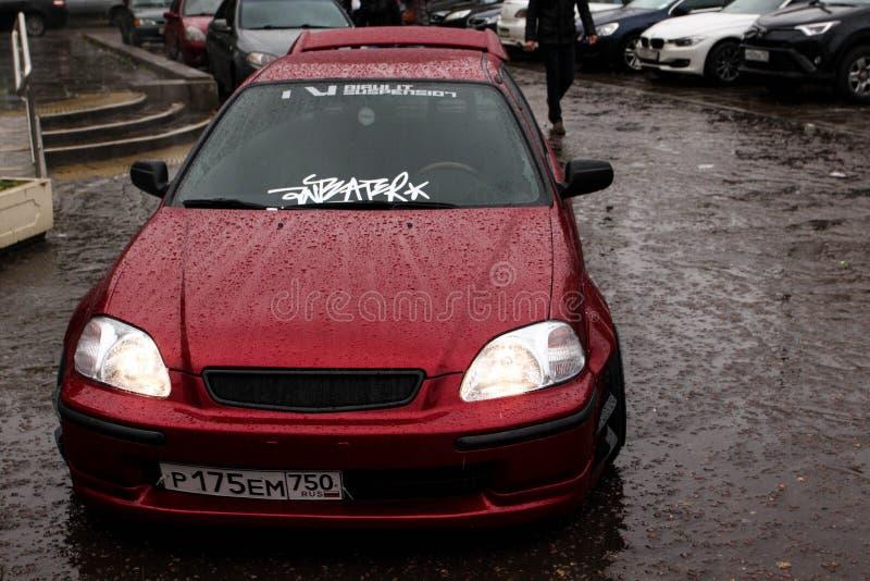 Automobili della città di Mosca fotografie stock libere da diritti