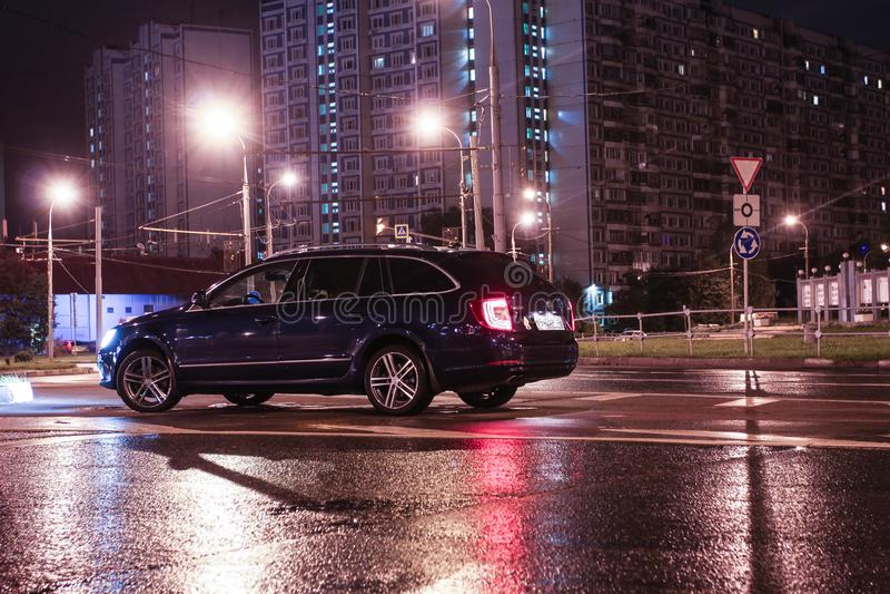 Automobili della città di Mosca fotografia stock libera da diritti