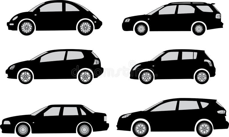 Siluette dell'automobile royalty illustrazione gratis