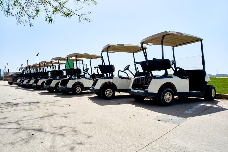Automobili di golf fotografie stock libere da diritti