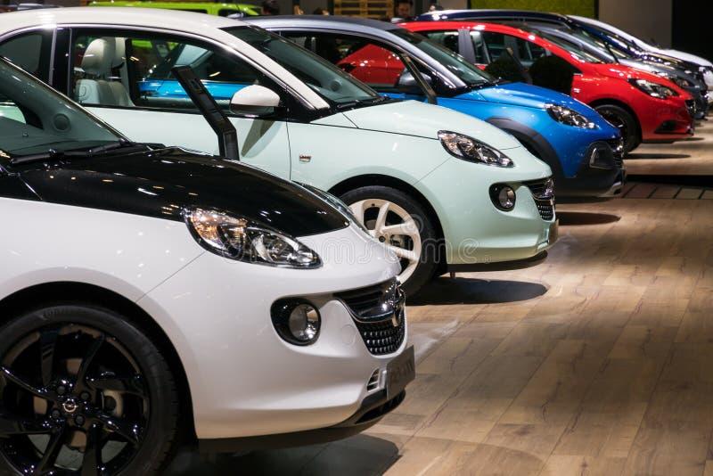 Automobili di Opel Adam fotografia stock