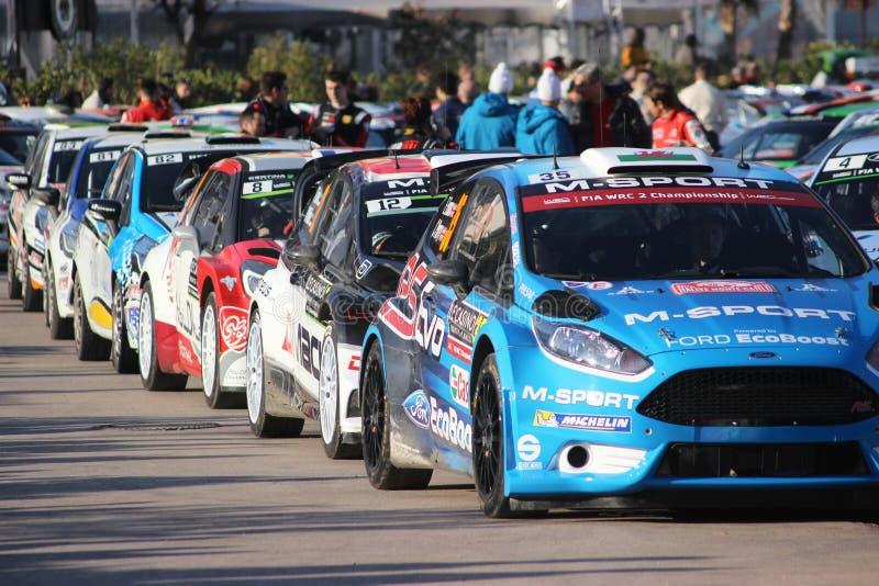 Automobili di raduno nel Monaco - Monte Carlo Rally 2016 fotografia stock libera da diritti