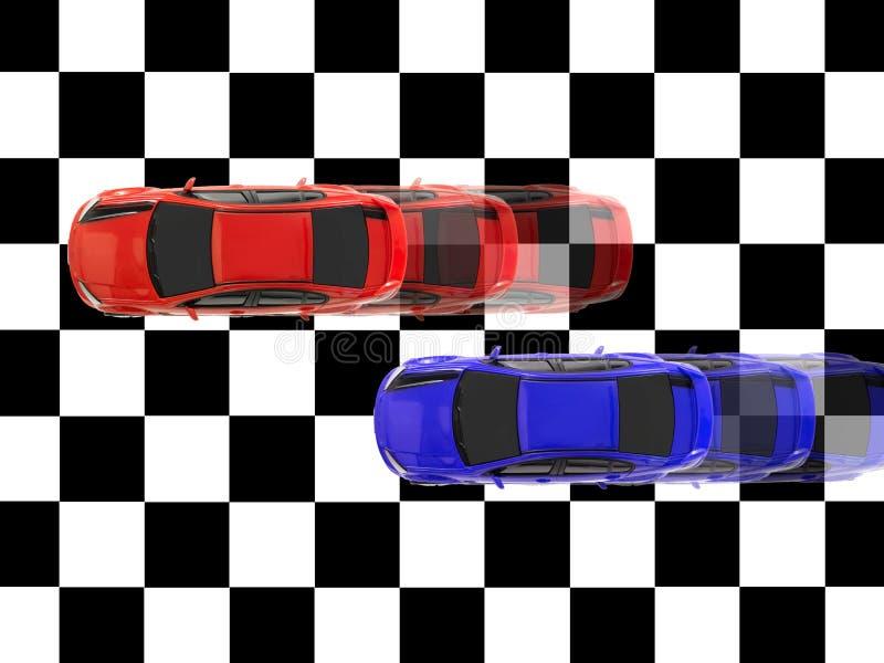 Automobili di scanalatura illustrazione vettoriale