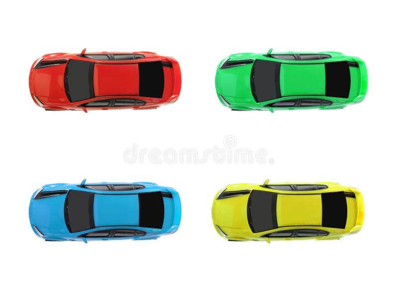 Automobili di scanalatura fotografie stock libere da diritti