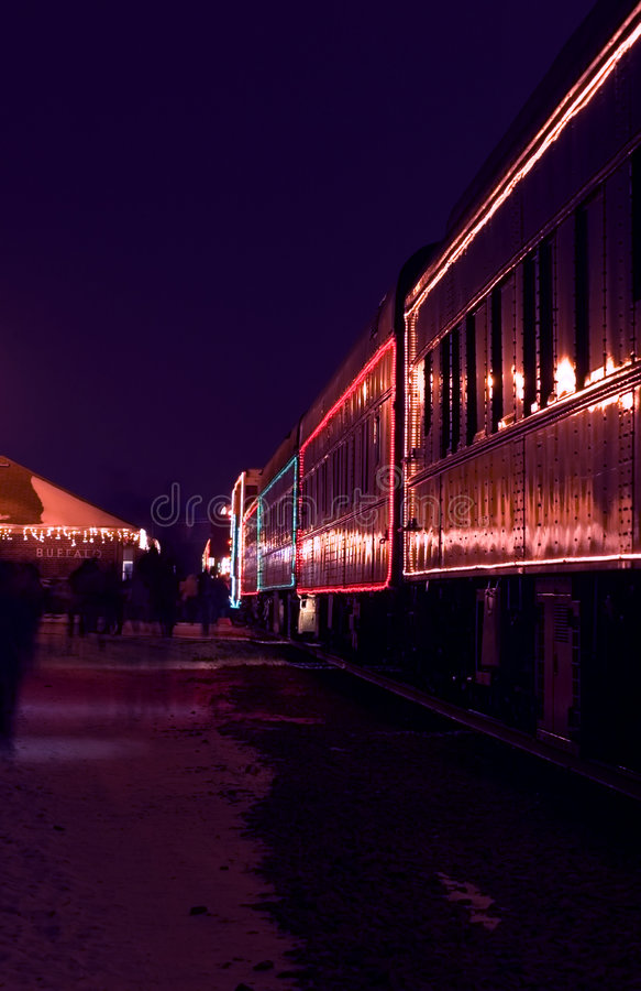 Automobili di treno decorate fotografie stock