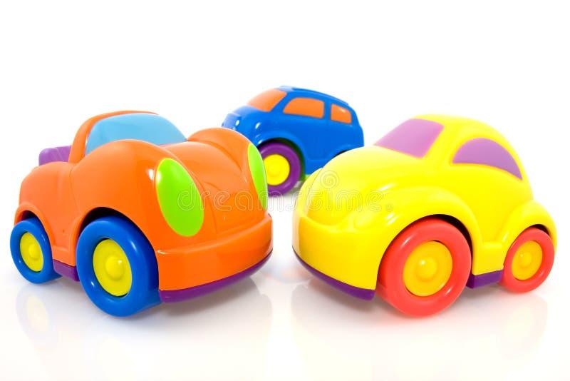 Automobili multicolori chiare fotografie stock