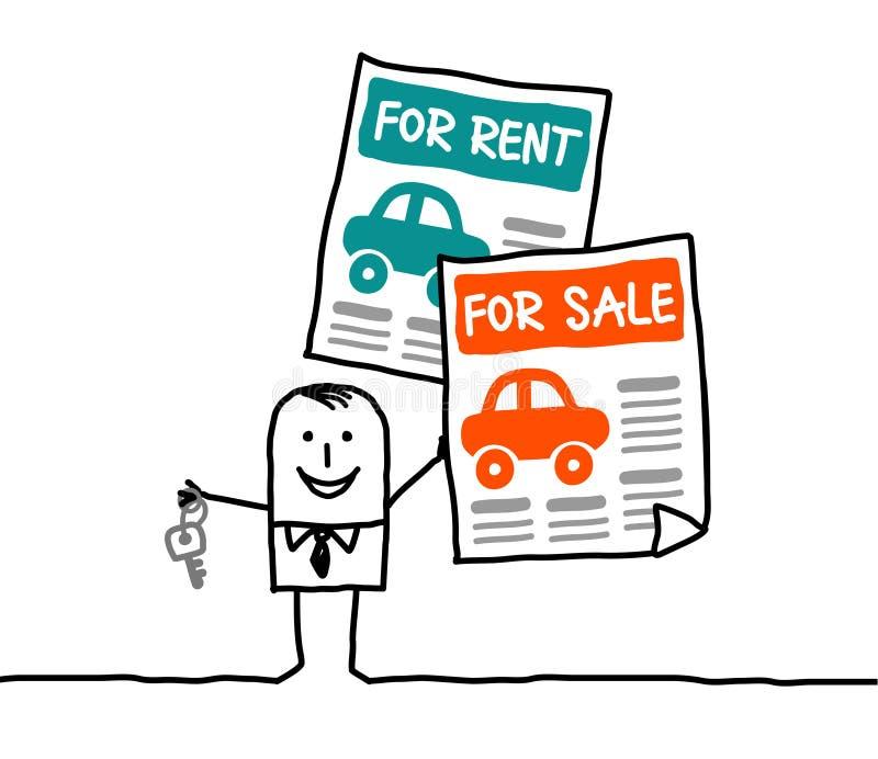 Automobili per affitto o la vendita royalty illustrazione gratis