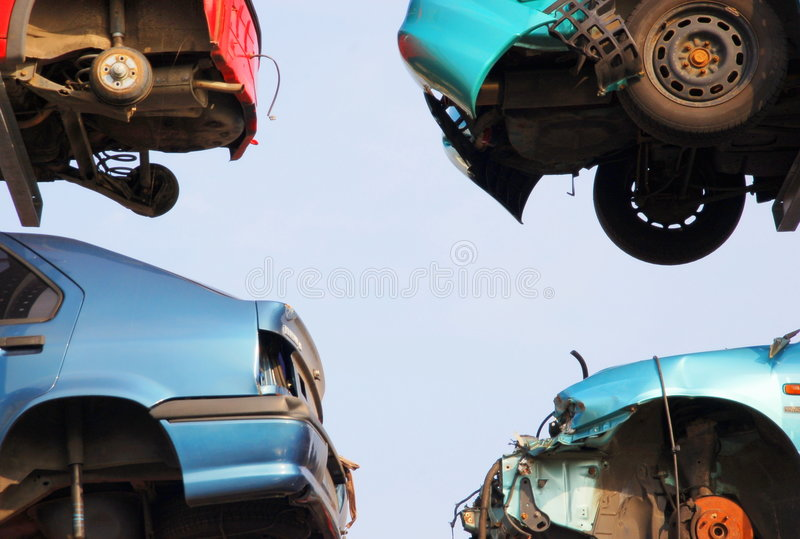 Automobili rovinate fotografia stock