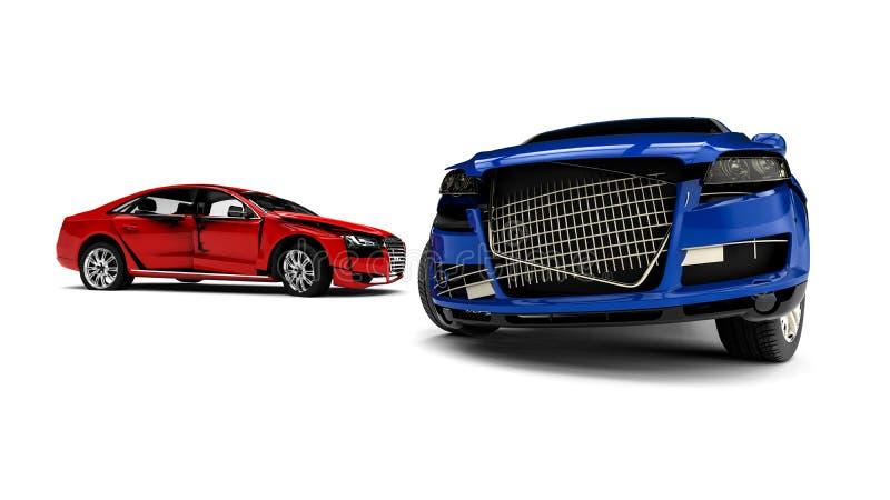 Automobili rovinate royalty illustrazione gratis