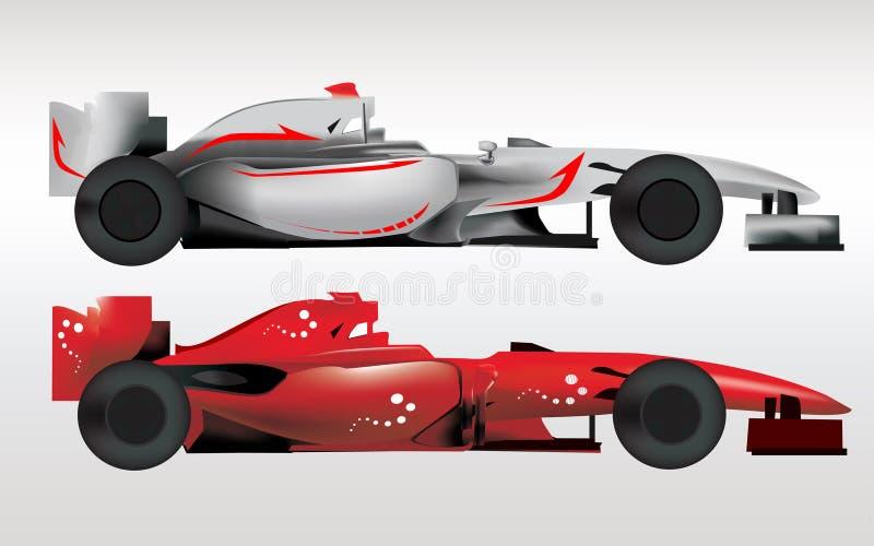 Automobili sportive di formula 1 illustrazione di stock