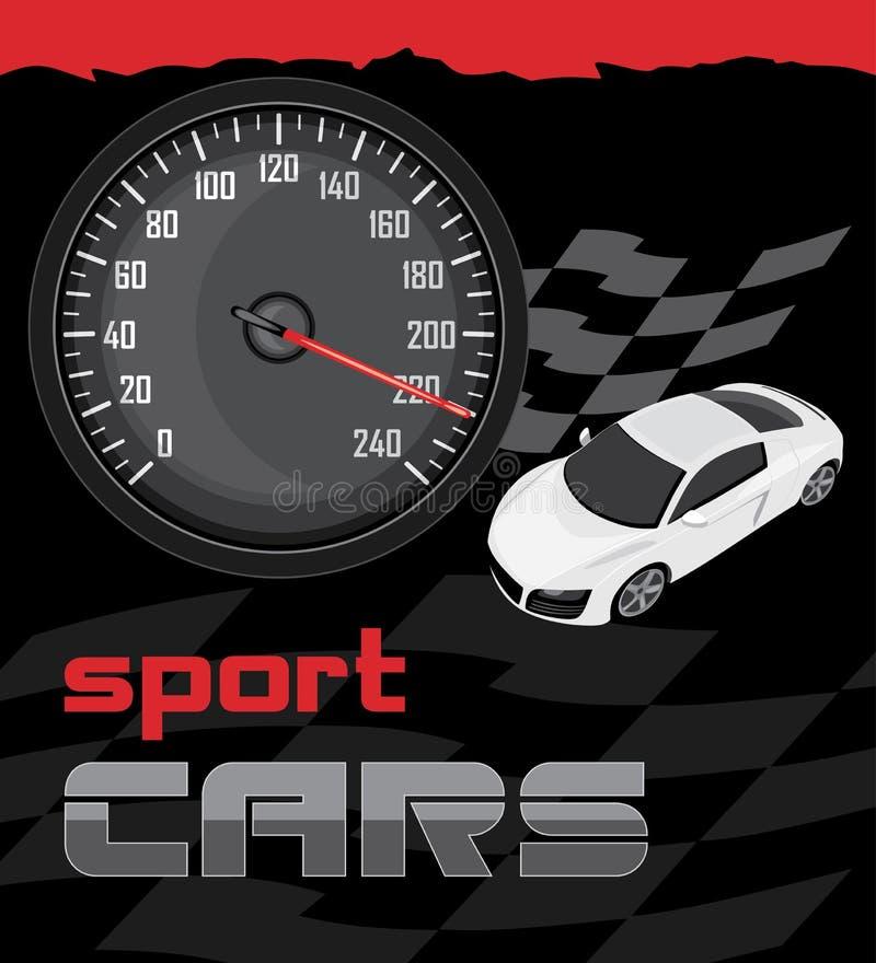 Automobili sportive. Icona per progettazione illustrazione di stock