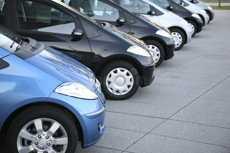 Automobili su parcheggio fotografia stock