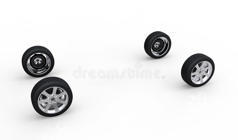 Automobilkonzept von AR-Rädern vektor abbildung