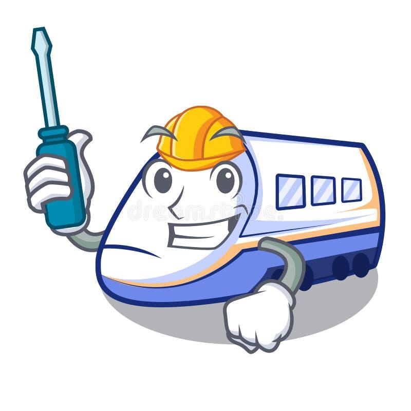 Automobilowa miniatura shinkansen pociąg w kreskówka kształcie ilustracji