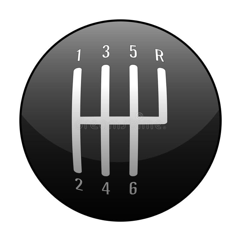 Automobilowej Standardowej Ręcznego przekazu 6 prędkości gałeczki wektoru Zmianowa ilustracja ilustracja wektor
