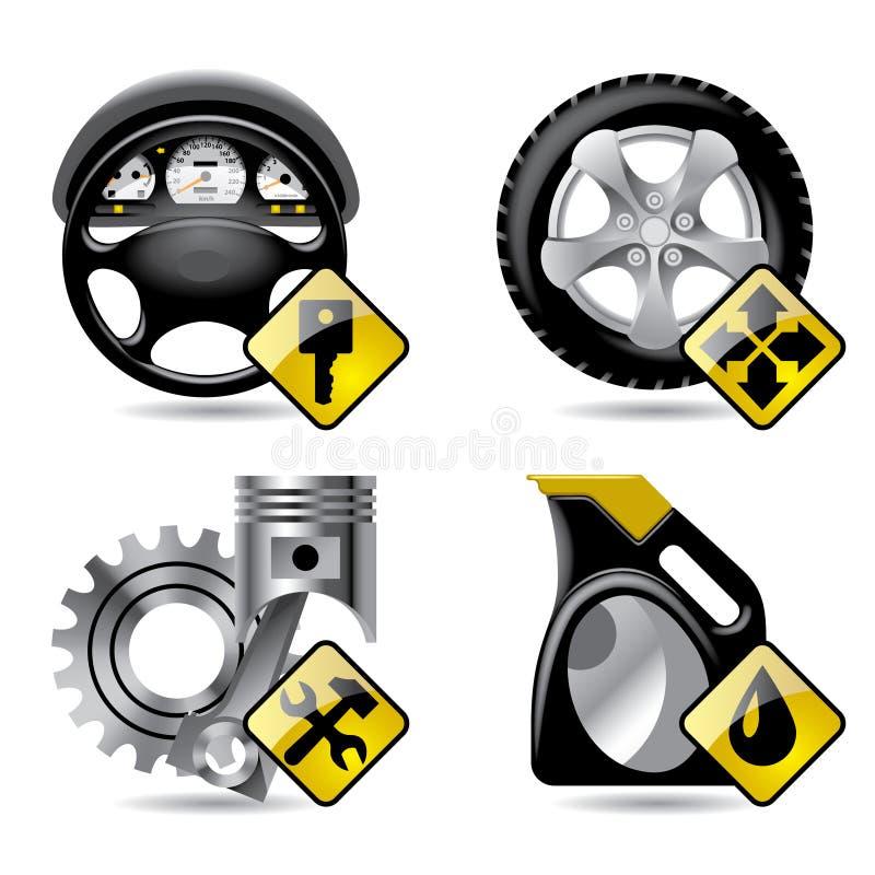 Automobilservice-Ikonen stock abbildung