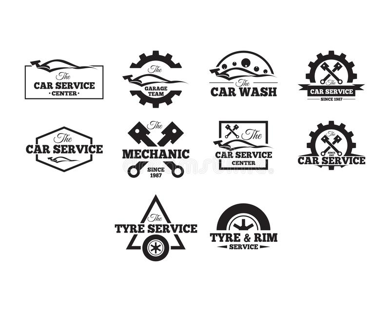 Automotive badges collection royalty free illustration