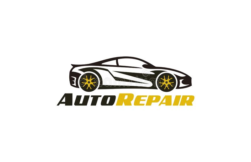 Auto Repair Logo. Concept logo design of illustrator vector a Auto Tuning Repair Cars Logo Template isolated on white  transparency png background vector illustration