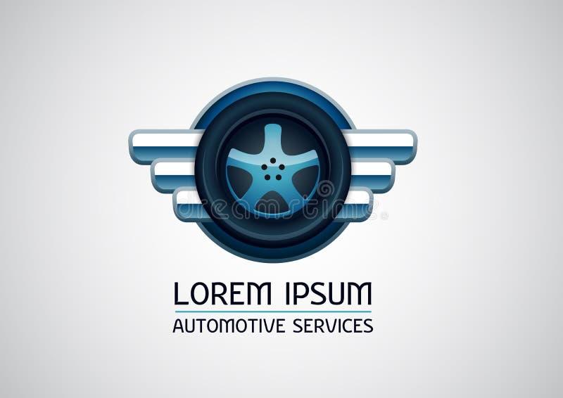 Automotive, car services, vector logo royalty free illustration