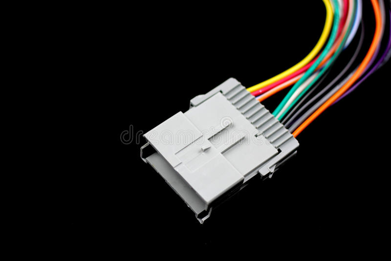 Automotive electrical connector stock photo