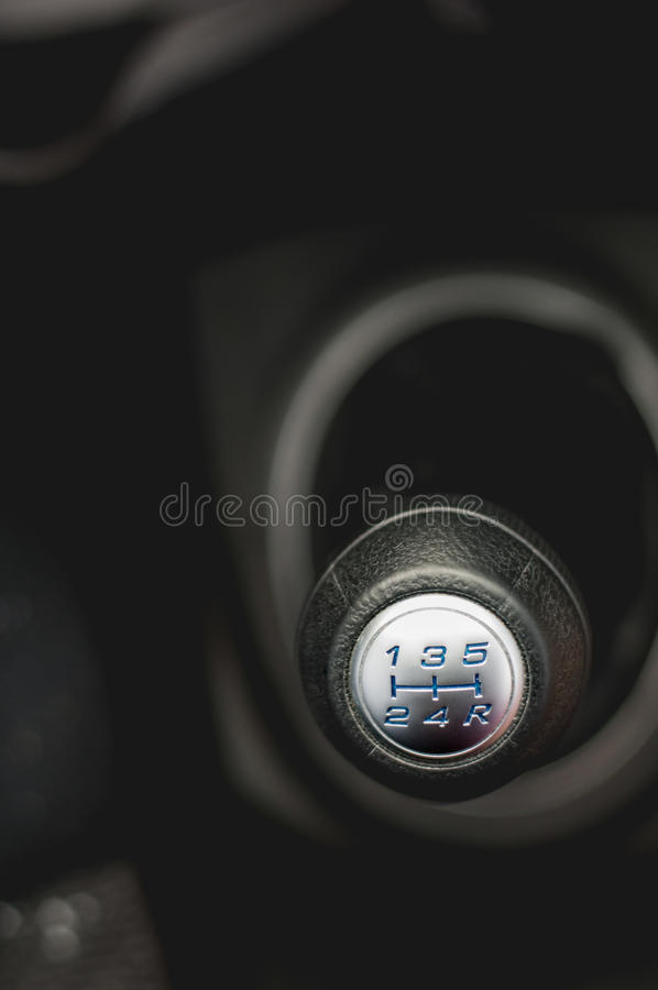 Automotive gear shift royalty free stock photo