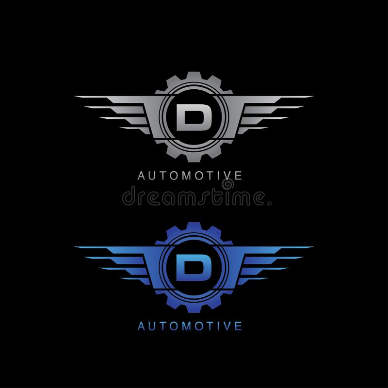 Free Automotive Gear Wing D Letter Logo Stock Photography - 132848882