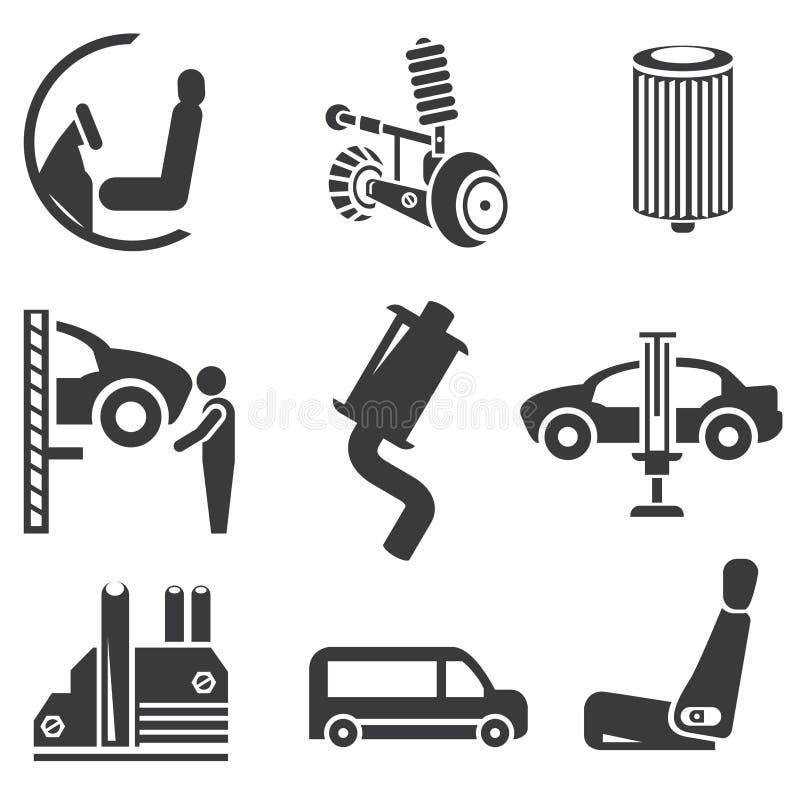 Automotive icons stock illustration illustration of for Auto p garage roussillon
