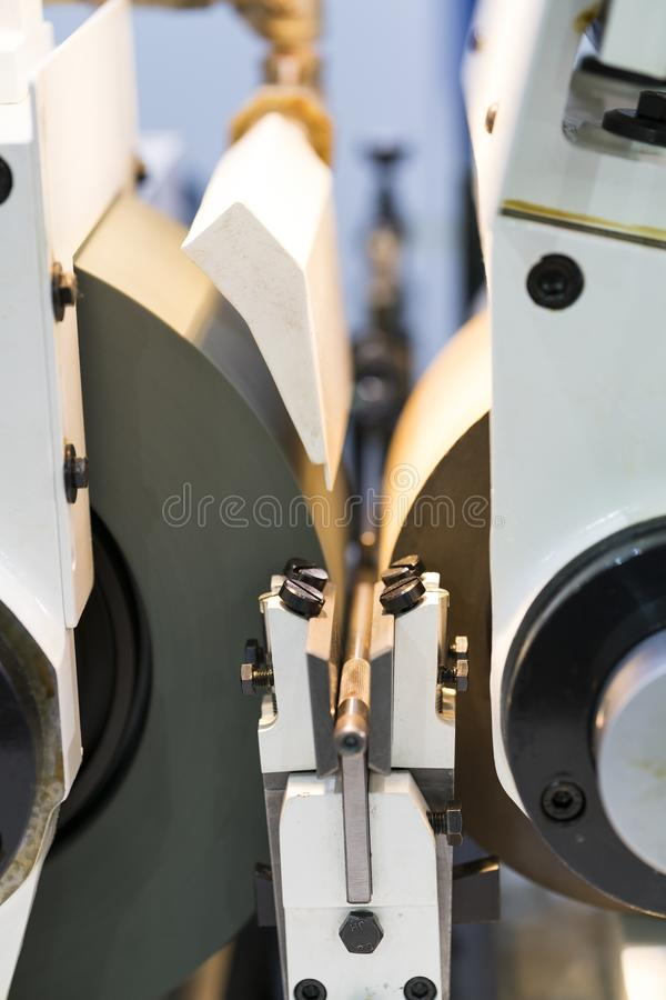 High precision CNC centerless grinding automotive part stock image