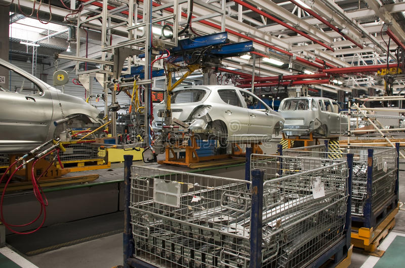 Automotive industry manufacture royalty free stock photography
