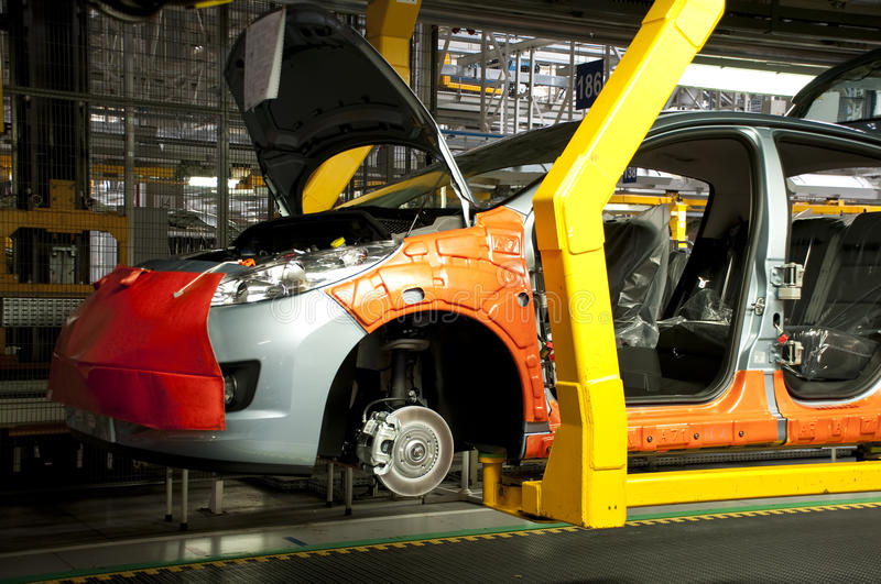 Automotive industry manufacture royalty free stock photos